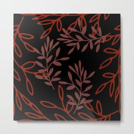 Leafy Red Metal Print