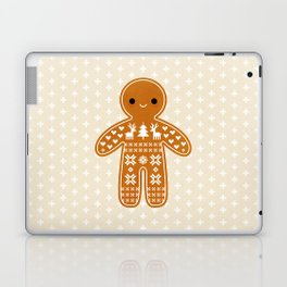 SWEATER PATTERN GINGERBREAD COOKIE Laptop & iPad Skin