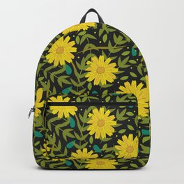 Sunflowers on Black Backpack