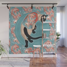 Pets Ink - Siamois Pattern Wall Mural