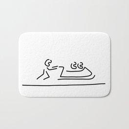Bob bobfahrer wintersport Bath Mat
