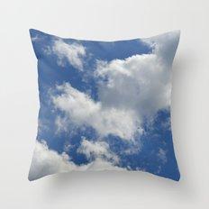 Sunny Cloudy Sky Throw Pillow