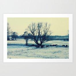 Winter  - JUSTART © Art Print