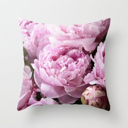 Dream on, Peonies... Throw Pillow