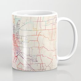 Salem map Oregon painting Coffee Mug