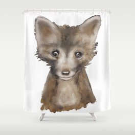 Fox Kid Shower Curtain