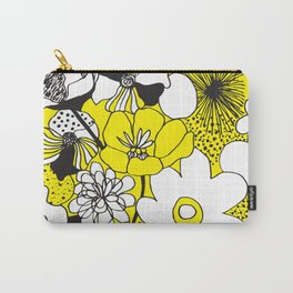 Floral Medley - Yellow Carry-All Pouch