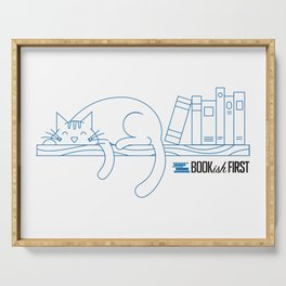 The Purrfect Reading Buddy Serving Tray