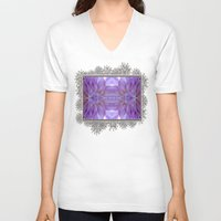 randy c V-neck T-shirts featuring Mingus Randy Abstract by JMcCombie