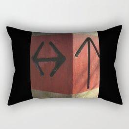 which way? Rectangular Pillow