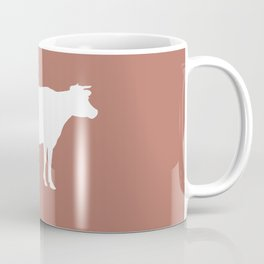Cow: Rust Red Coffee Mug