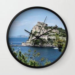 Aragonese Castle - Ischia Wall Clock