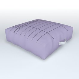LiBRARY BOOK CARD (violet) Outdoor Floor Cushion