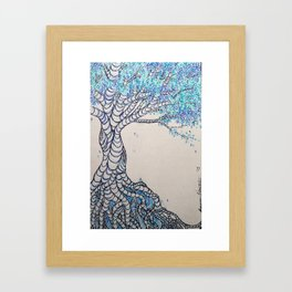 Blue Icing Framed Art Print