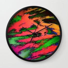 Thinking skies red Wall Clock