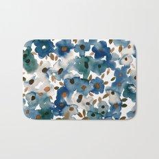 Georgia Floral Blue Bath Mat