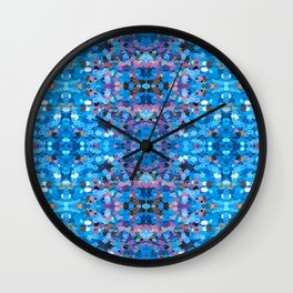 Sequin Patterns Wall Clock