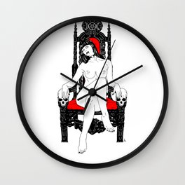 Witches Throne Wall Clock