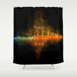 Tokyo City Skyline Hq V4 Shower Curtain
