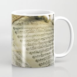 Do a Little Jig; ukulele with sheet music in the background Coffee Mug