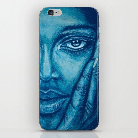 look at me-blue iPhone Skin