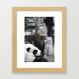 Long Day on the Wall Framed Art Print
