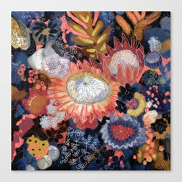 Storm Flowers Canvas Print
