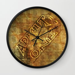 Admit One Wall Clock