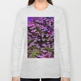 Foliage Abstract Pop Art In Ultra Violet and Purple Long Sleeve T-shirt