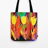 tulip Tote Bags featuring Tulip  by LoRo  Art & Pictures