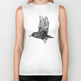 Flock of Starlings / Murmuration Biker Tank