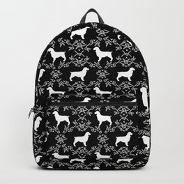 Boykin Spaniel silhouette floral dog breed pet pattern silhouettes of dogs Backpack
