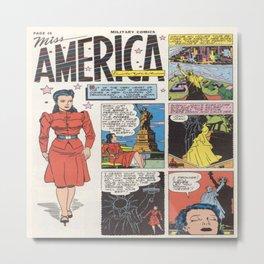 Miss America Quality Comics Metal Print