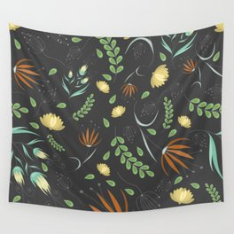 Floral grey pattern Wall Tapestry