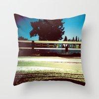 train Throw Pillows featuring Train by Ibbanez