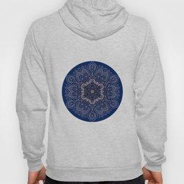 Temptation - Mandala 1 on Blue Backgound  Hoody
