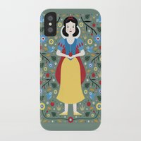 snow white iPhone & iPod Cases featuring Snow White  by Carly Watts
