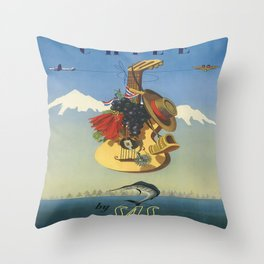 Vintage poster - Chile Throw Pillow
