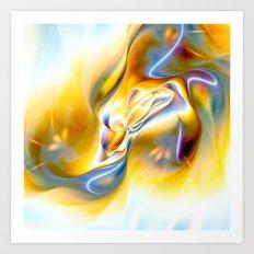 Fluid Gold Art Print
