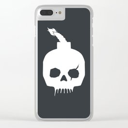 Skull Bomb Clear iPhone Case