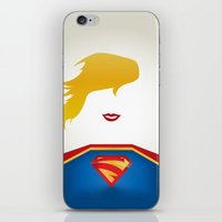 supergirl iPhone & iPod Skins featuring SUPERGIRL by Roboz