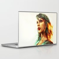 hair Laptop & iPad Skins featuring When the Sun Came Up by Alice X. Zhang