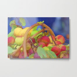 apple in the basket Metal Print