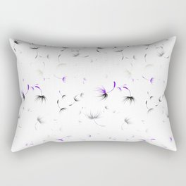 Dandelion Seeds Asexual Pride (white background) Rectangular Pillow