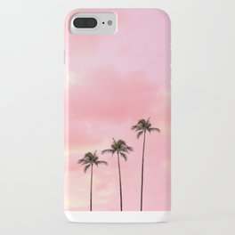 Palm Trees Photography | Hot Pink Sunset iPhone Case