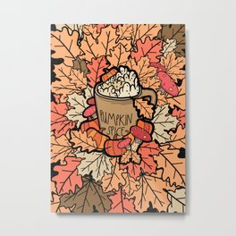 Pumpkin spice latte Metal Print