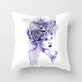 Miss Saint Petersburg Throw Pillow