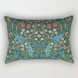 William Morris Blackthorn Pattern, 1892 Rectangular Pillow