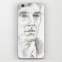 sherlock iPhone & iPod Skins featuring Sherlock by Amanda Powzukiewicz