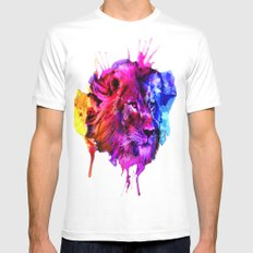 King of the jungle MEDIUM White Mens Fitted Tee